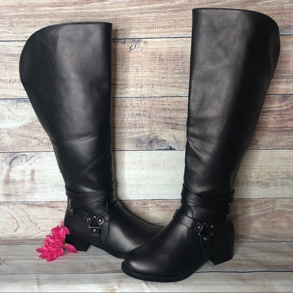 torrid Shoes   Torrid Wide Calf Black